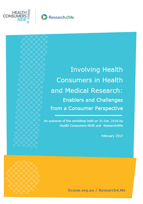 Report: Involving Health Consumers in Health and Medical Research